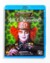 Alice in Wonderland 3D (Blu-Ray DVD, 2010) - Johnny Depp, Tim Burton - $10.00