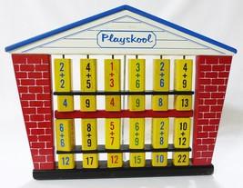 Vtg Playskool Matemáticas Contar Escuela Madera Flip Juguete Educativo D... - $59.39