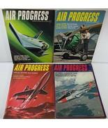 Vintage Lot of 4 AIR PROGRESS Aviation Magazines of 1965 - $19.79