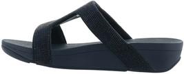 FitFlop Marli Crystal Slide Sandal NAVY 7 NEW 691-175 - $100.96