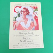 Penelope Keith Hay Fever HandBill Flyer Noel Coward 1983 - $24.99