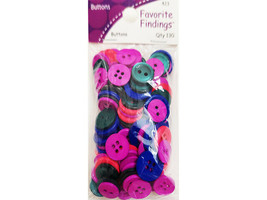 Blumenthal Lansing Favorite Findings Jewel Tones Mixed Color Buttons, 130 Count