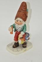 "VINTAGE GOEBEL, W.GERMANY CO-BOY GNOME -KUNI - THE PAINTER FIGURINE, 8"" - $16.82"