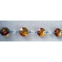 Silver Crystal Octagon and Bead Bracelet image 5