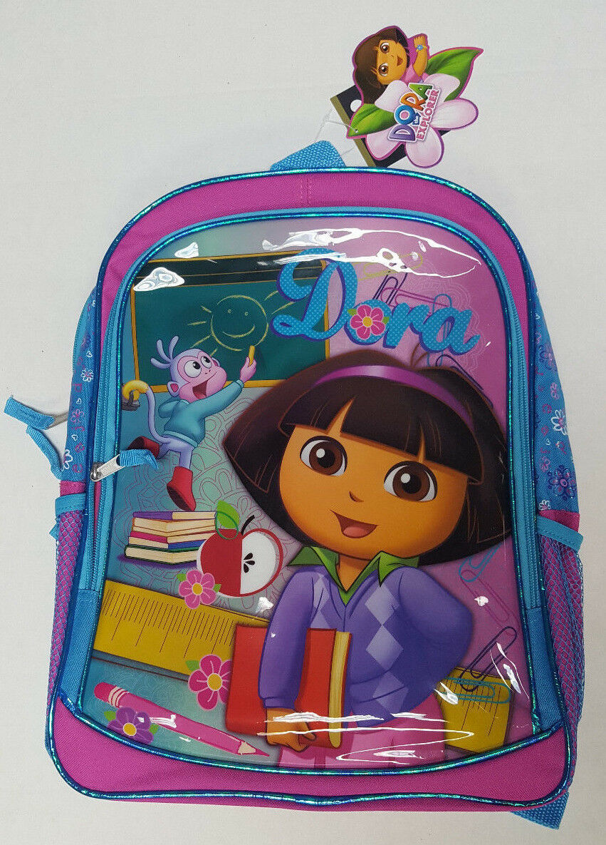 "Primary image for DORA The Explorer Back To School 16"" Book Bag School Supplies Kids Backpack"