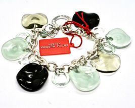 Bracelet Antica Murrina Venezia Shiva Murano Glass Discs Black BR316A12 image 3