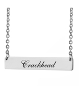 Custom Any Name Bar Necklace Christmas Mother Day Gift for Crackhead - $9.99+