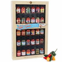 Thoughtfully Gifts, Hot Sauce Flavors of the World: 30 Pack Hot Sauce Sa... - $58.61