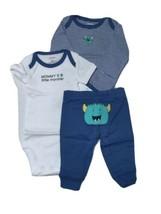 Carter's 3 Piece Boys Set Newborn Mommy's Little Monster - $13.95