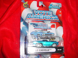 Muscle Machines '69 Chevelle Blue 04-27 Vote America Series Free Usa Shipping - $11.29