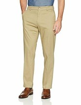 LEE Men's Performance Series Tri-Flex No Iron Relaxed Fit Pant Pebble 34... - $18.12