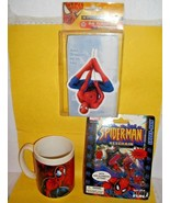 SPIDER-MAN~MARVEL~KEYRING KEY CHAIN+24 TREAT SACK VALENTINES~NOS+COFFEE ... - $14.84