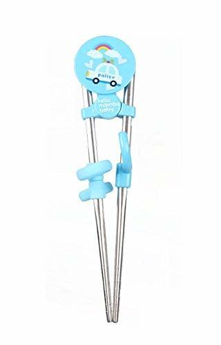 Panda Superstore Stainless Steel Children's tableware Chopsticks(Blue)
