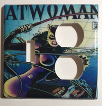 Catwoman Comic Book Cover Light Switch Power Outlet wall Cover Plate Home decor image 5