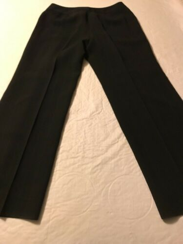 Ann Taylor Women's Pants Black Pinstripe Fully Lined Dress Pants Size 10 X 30 image 6