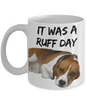 """Cute Beagle Mug """"Funny Beagle Coffee Mug It Was A Ruff Day"""" Beagle Gift ... - $14.95"""