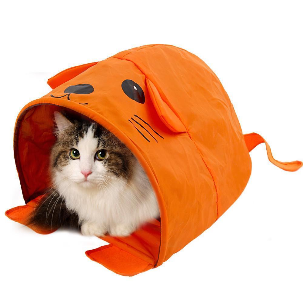 Primary image for Pet Cat Toys Cute Mouse Tunnels Orange Color Tent Easy House For Small Dog Beds