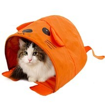 Pet Cat Toys Cute Mouse Tunnels Orange Color Tent Easy House For Small D... - £10.75 GBP