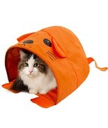 Pet Cat Toys Cute Mouse Tunnels Orange Color Tent Easy House For Small D... - $13.99
