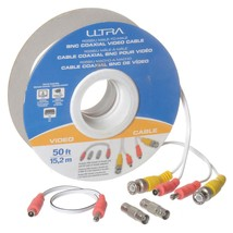 Ultra - U12-41632 - 50FT RG58/U Male-To-Male BNC Coaxial Video Cable - 50FT - $16.78