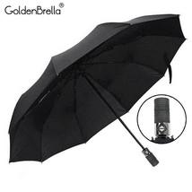 GoldenBrella® Wheel Handle Umbrella For Men Quality Strong Wind Resistance - $26.26