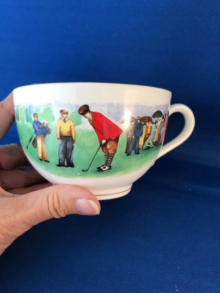 GOLFER Gift ROYAL WORCESTER China Cup Saucer VIP Series
