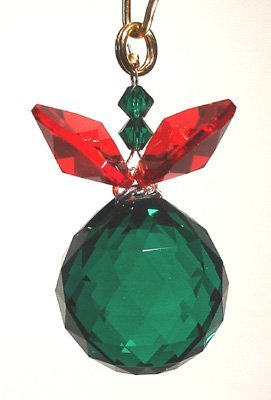 J'Leen Emerald and Siam Berry Berry with Austrian Crystal