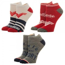 Wonder Woman Movie Logo DC Comics 3 Pack Ankle Socks Nwt - $10.99