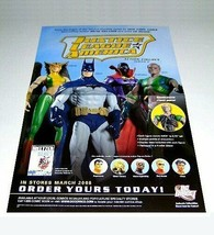2008 JLA 17x11 inch DC Comics Direct action figure promo poster:Batman,Hawkgirl, - £14.78 GBP