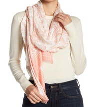 Rebecca Minkoff Scarf Ornament Paisley Oblong Pink NEW - $57.42