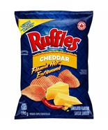 6 Bags Ruffles Flamin' Hot Cheddar Chips Size 190g EACH Canada FRESH & DELICIOUS - $39.79