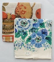 LOT vintage NOS 2p LINEN KITCHEN TOWELS unused LEACOCK and FALLINI & COHN image 2