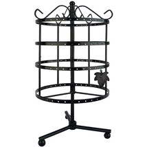 Jewelry Tower Stand Display Organizer 4 Tier Rotating Spin Holder Multi ... - $32.68