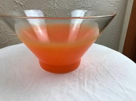 1 Vintage Blendo large Glass Salad Dip Bowl - $9.46