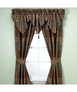 New Croscill Galleria Window Curtain Panel Pair Chocolate - $130.67