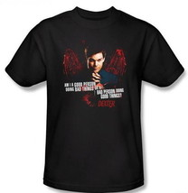 Dexter TV Series Am I A Good Person or A Bad Person Adult T-Shirt, NEW U... - $14.50