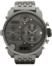 Diesel DZ7247 Mr. Daddy Gunmetal Oversized 56mm Stainless Steel Men's Watch - $197.12 CAD