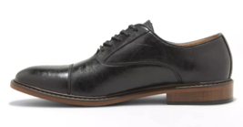 Goodfellow & Co Men's Joseph Black Faux Leather Oxford Cap Toe Dress Shoes 13 image 2