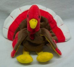 "Ty Beanie Baby Gobbles The Turkey 5"" Plush Stuffed Animal 1996 New - $14.85"