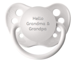 Baby Announcement to Grandparents - Hello Grandma & Grandpa Pacifier - B... - $9.99