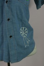 Put-On Shop Teens Denim Button Down Shirt w/ Embroidery Sz 14 - $11.62