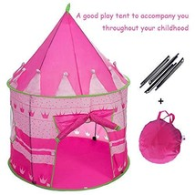 "Wishome 53"" Foldable Pop Up Pink Princess Play Tent for Kids Girls Cas... - $25.84"
