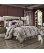 New J. Queen New York Gianna 4 Piece Comforter Set Burgundy Grey Variety... - $252.64+