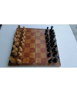 Vintage Russian USSR Soviet Wooden Chess Set About 1970 - $84.02