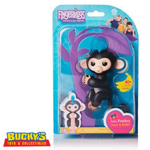 Fingerlings Finn Baby Monkey Interactive Toy Black Sound Motion Touch US... - $54.43