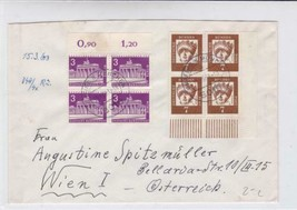 germany berlin 1963 stamps blocks   stamps cover ref r19707 - $7.32