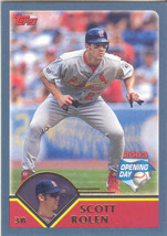 Scott Rolen ~ 2003 Topps Opening Day #26 ~ Cardinals - $0.30