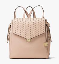 Michael Kors Bristol Medium Studded Leather Backpack Bag Soft Pink New N... - $256.41