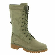 Womens Timberland Jayne Gaiter Waterproof Boot - Light Green Nubuck Nylon - $114.99