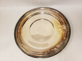 "Vintage Reed & Barton #1211 Silver Plated Round 16"" Platter Tray Ornate ... - $29.69"